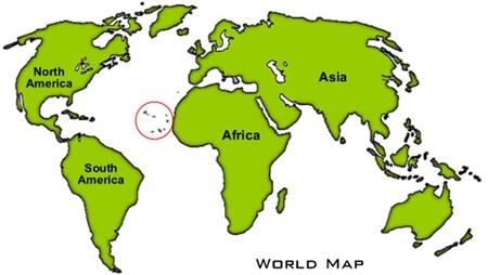 Yeşil Burun Adaları Harita