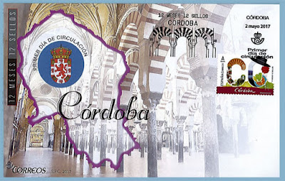 Filatelia 2017 - Córdoba - 12 meses, 12 sellos - Sobre Primer día de circulación