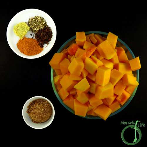 Morsels of Life - Spice Roasted Butternut Squash Step 1 - Gather all materials.