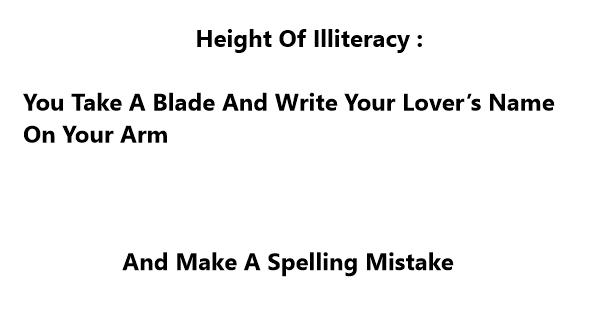 illiteracy jokes