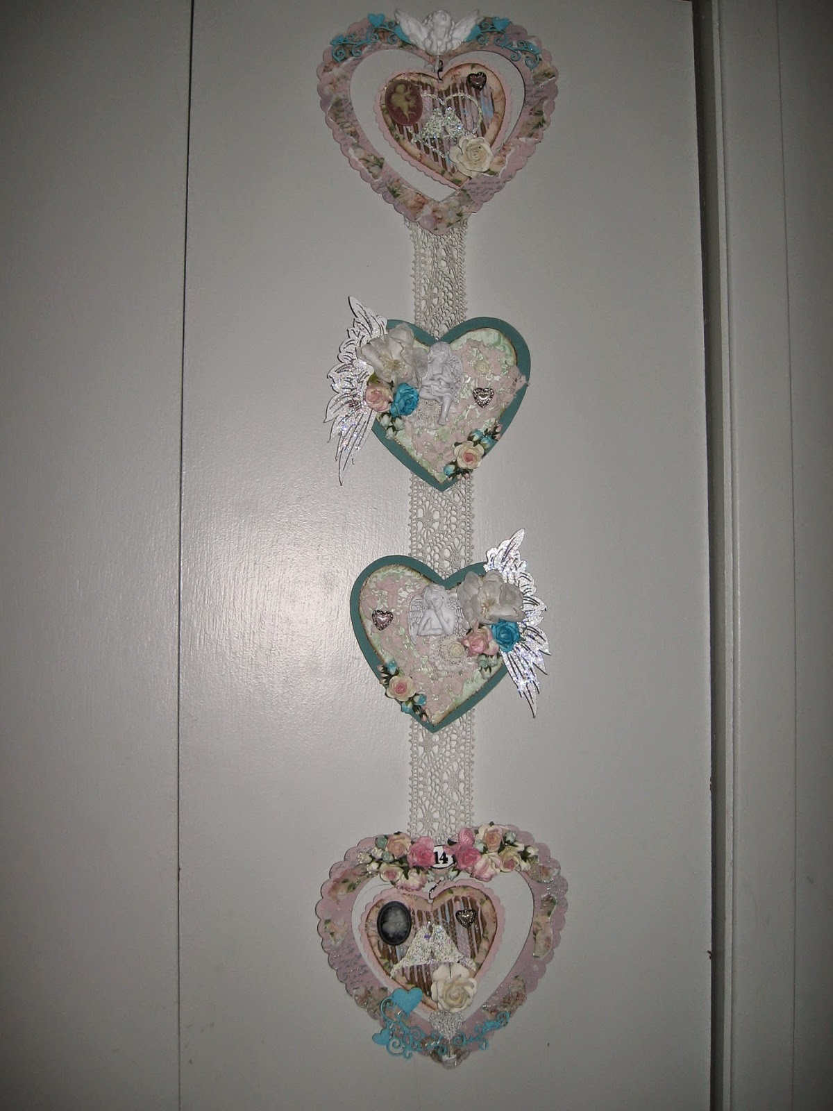 AngelDream Crafts: Shabby Chic Heart Wall Hanging Gina's ...