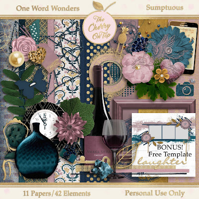 Sumptuous Digital Scrapbooking Kit