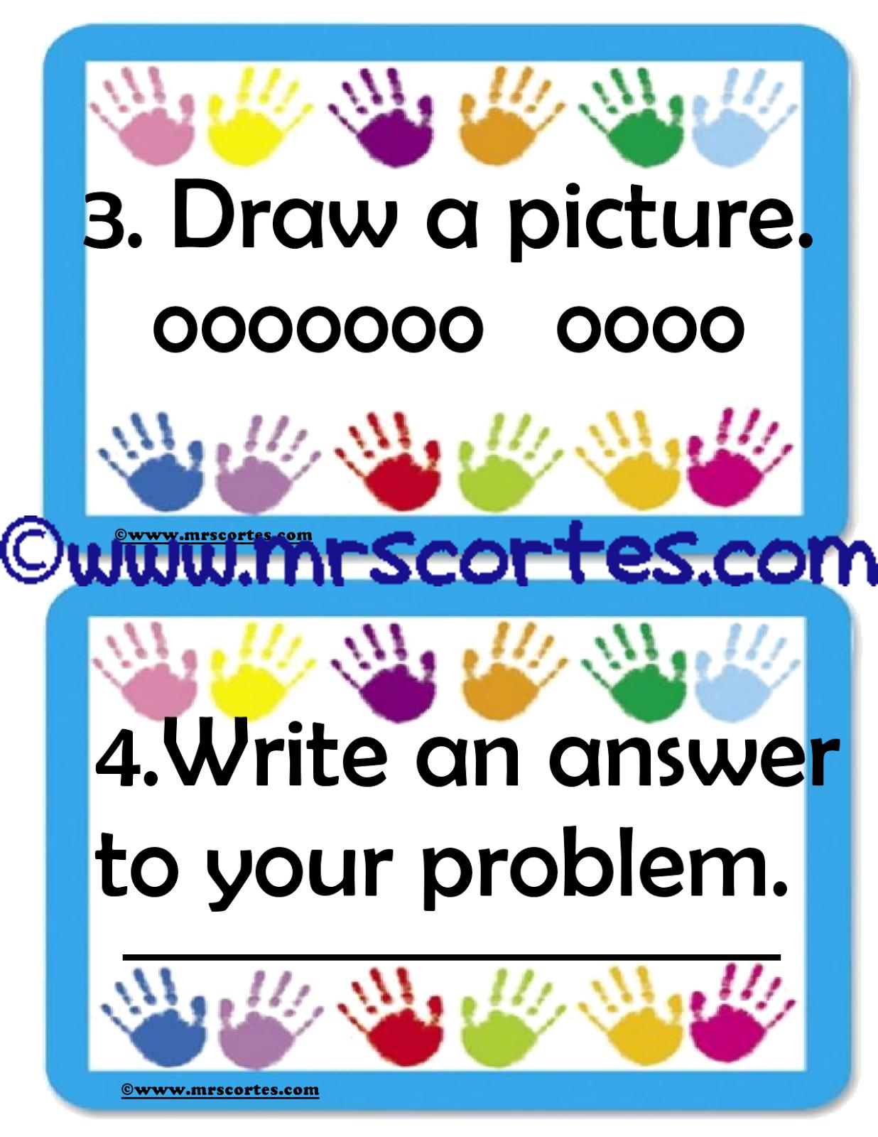 Mrs Cortes Teacher Resources Problem Solving Steps
