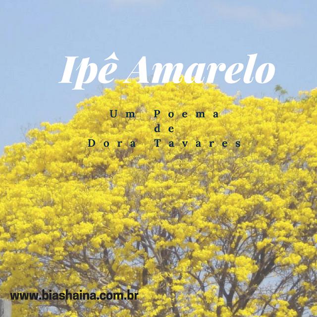Ipê Amarelo um Poema de Dora Tavares, textos, poemas