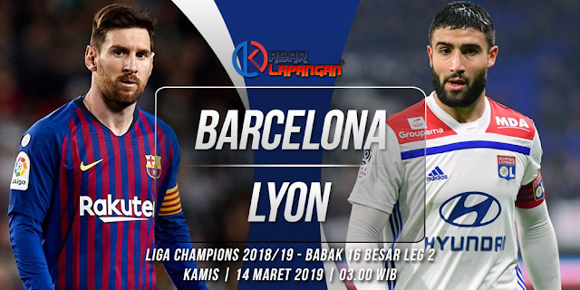 Prediksi Bola Barcelona vs Lyon Liga Champions