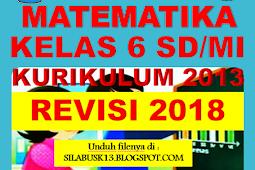 Rpp Matematika Kelas Vi Sd/Mi Kurikulum 2013 Revisi 2018