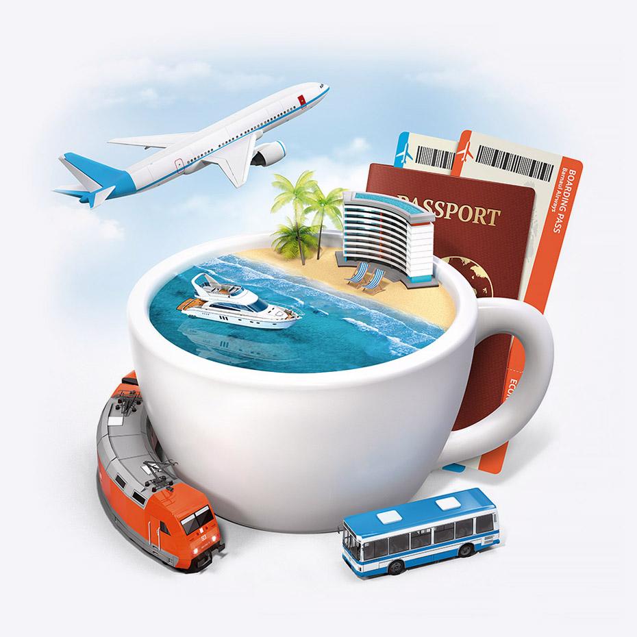 разработка рекламных макетов, агентство продуманных поездок АвиаНебо