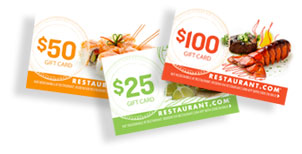 restaurant gift cards for just 2 dollars