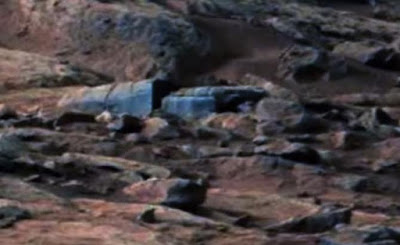 Strange looking coffin or sarcophagus on Mars.