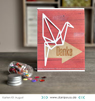 Kartenwind : Origami Grußkarte