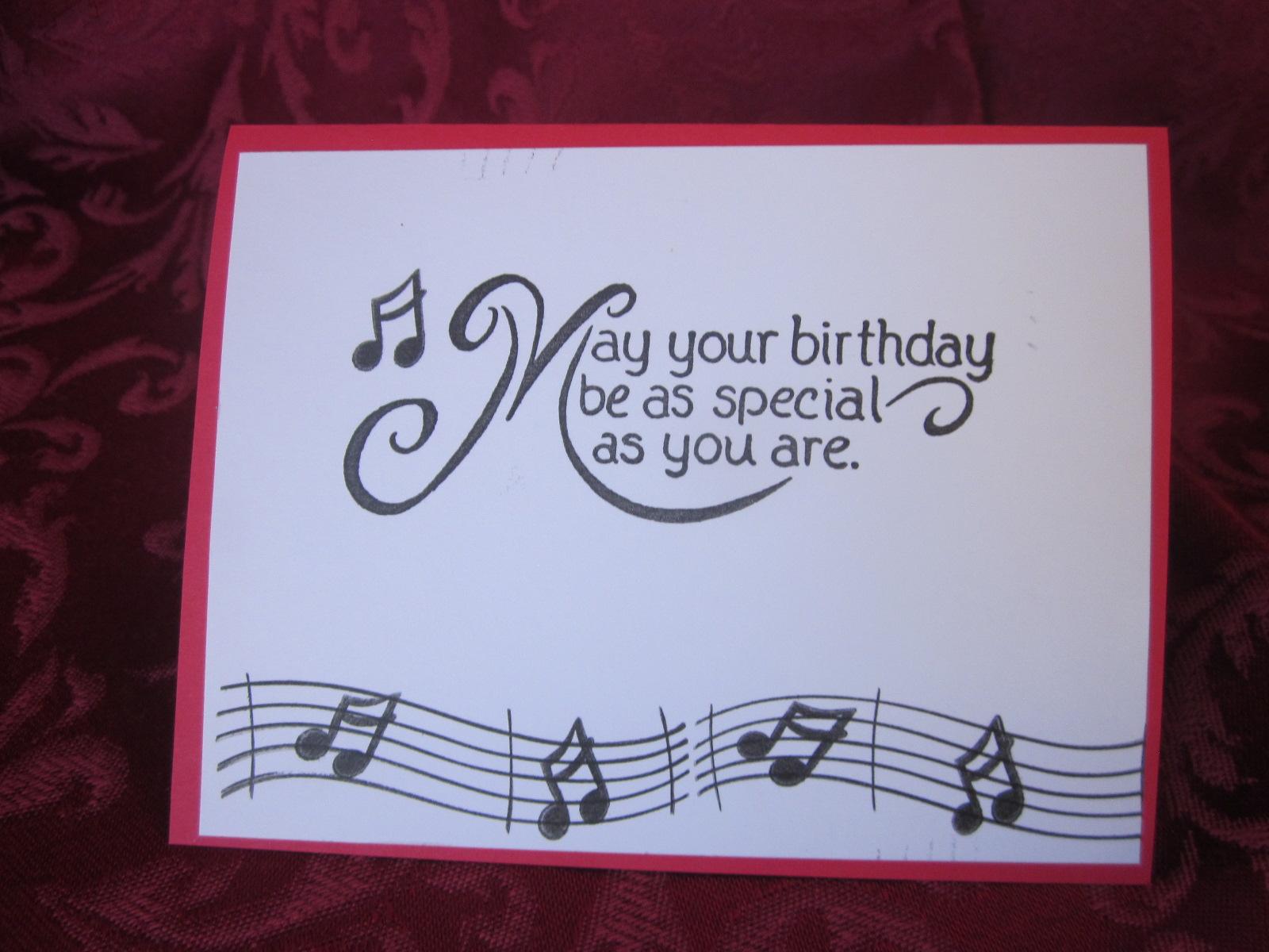 Stamping Crafting And Having Fun Music Birthday