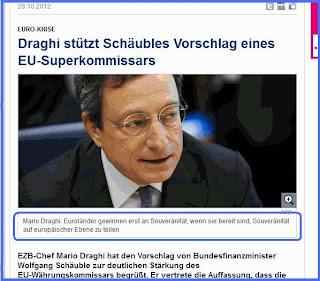 DER SPIEGEL: Ντράγκι: «Ξεχάστε την εθνική κυριαρχία»
