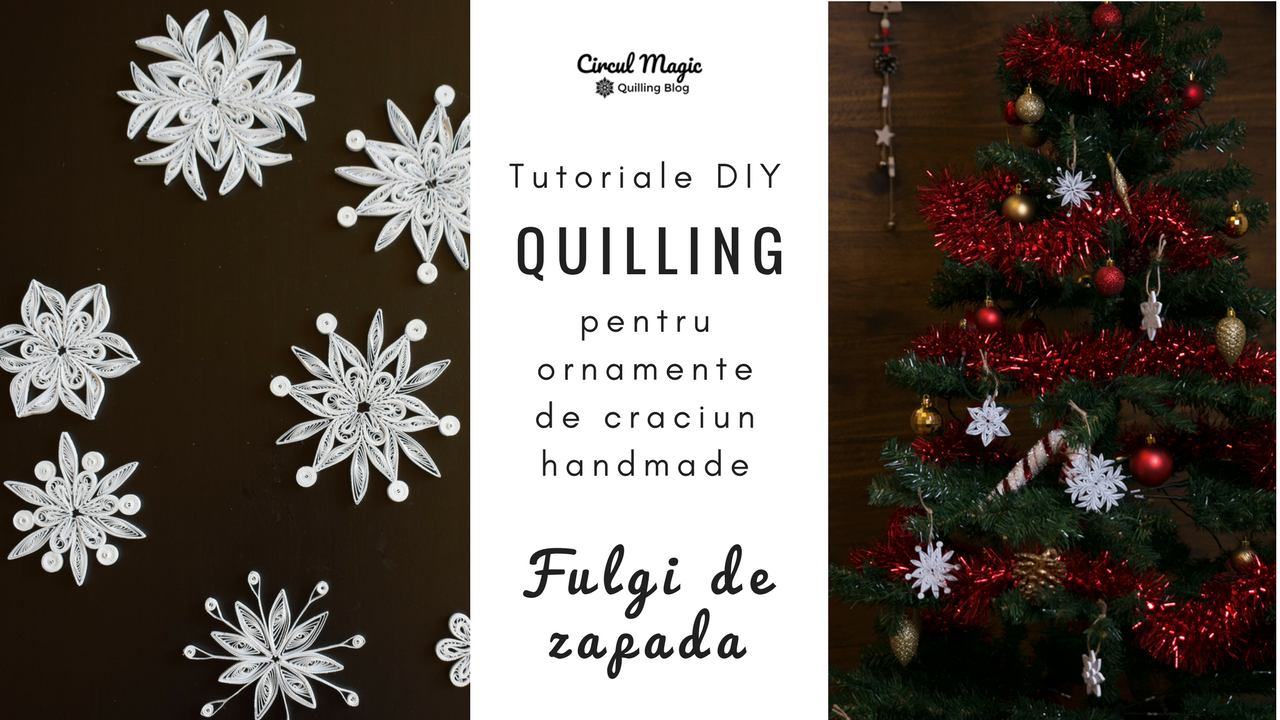 Tutorial video DIY handmade Fulg de Zapada Quilling #2 Floare de Gheata