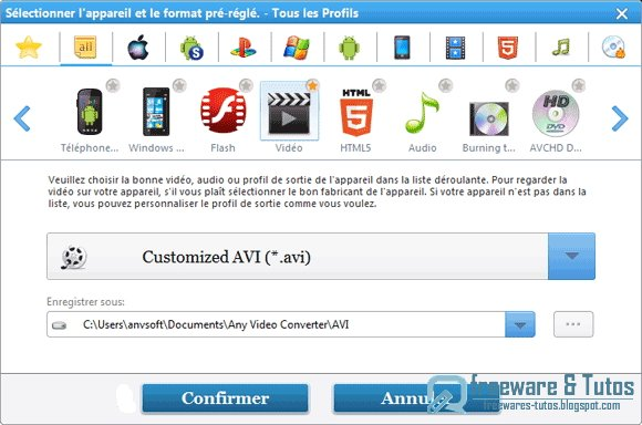 Any Video Converter : un logiciel de conversion vidéo performant