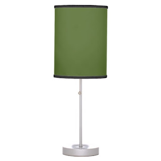 Organic home decor accent lamp