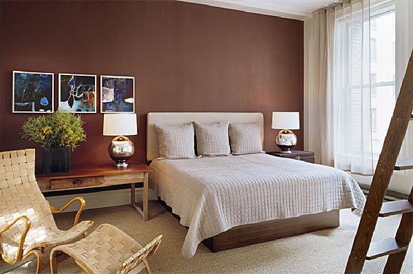 parede pintada marrom