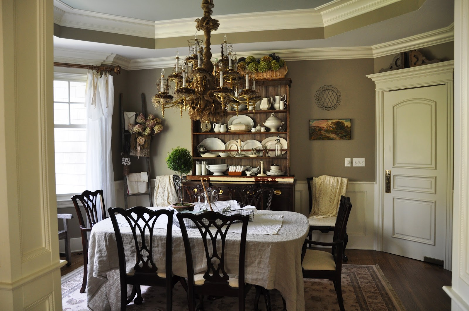 Dining Room Makeover Serendipity Refined Blog Burlap Wrapped Chandelier Mini