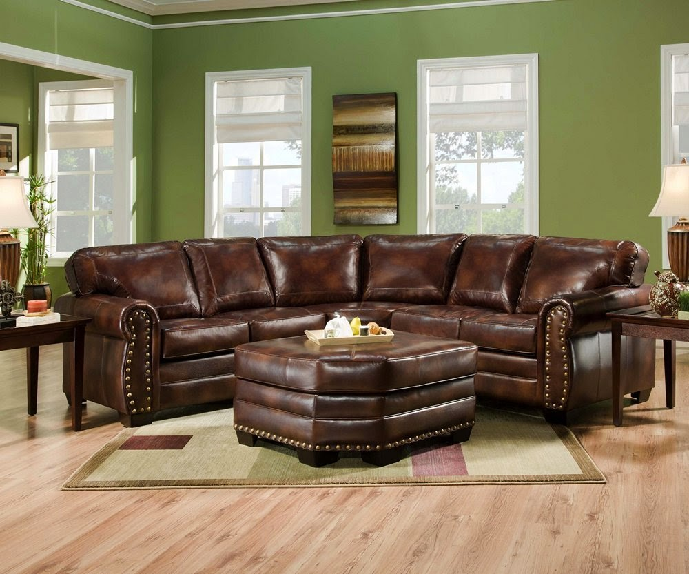 Simmons 9222dn Encore Brown Leather Sofa Reclining Sectional