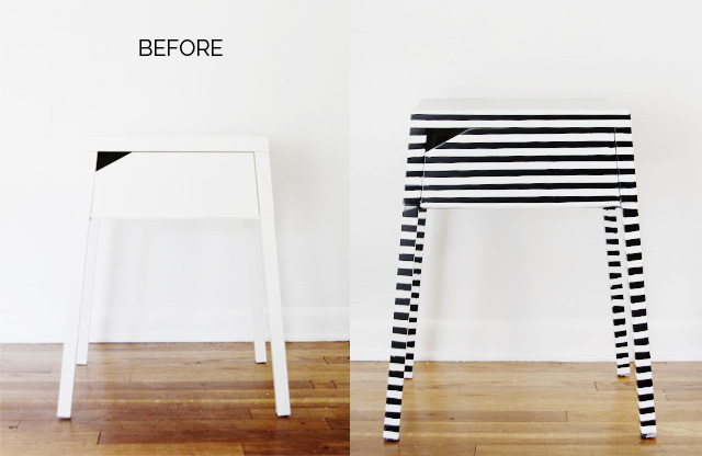 Striped Nightstand Ikea