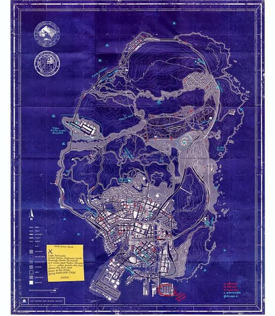 GTA 5 UV Light Secrets Locations Map