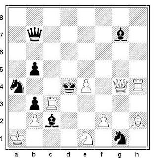 Problema de mate en 2 compuesto por José Antonio López Parcerisa (3º Premio, Jubileo J. A. Coello - 75)