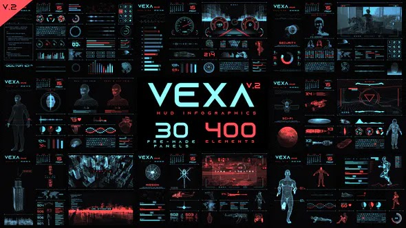Videohive Vexa HUD Infographics V2 23442025