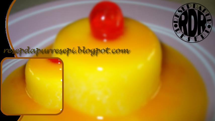 Cara membat puding durian dengan saus karamel lezat
