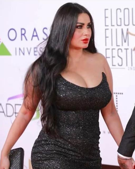 زوجة احمد الفيشاوي تلهب القلوب في ختام مهرجان الجونة السينمائي