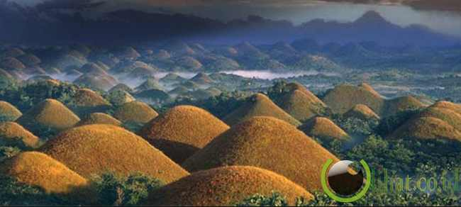 Bukit Cokelat di Bohol, Filipina