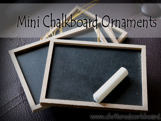DIY Farmhouse Style Chalkboard Ornaments