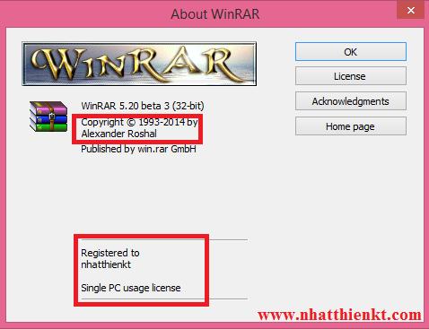 Hướng dẫn tạo bản quyền Winrar theo phong cách của bạn