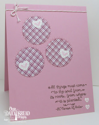 ODBD A Happy Hello, ODBD Custom Double Stitched Circles Dies, ODBD Custom Mini Stitched Hearts Dies, ODBD Custom Umbrellas Dies, ODBD Plum Pizazz Paper Collection, Card Designer Angie Crockett