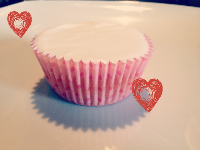 Cup cake on plate