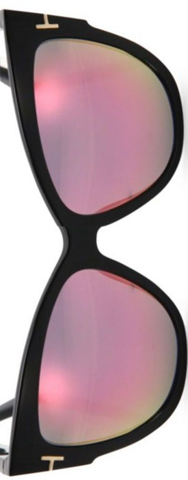 Tom Ford Eyewear Anoushka 57MM Mirrored Cat's-Eye Sunglasses