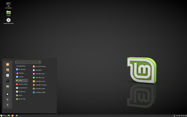 "Linux Mint 18 ""Sarah"" Cinnamon Edition."