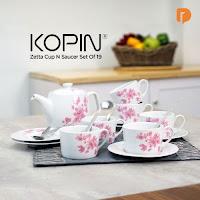 Dusdusan Kopin Zetta Cup N Saucer Set (Set of 19) ANDHIMIND