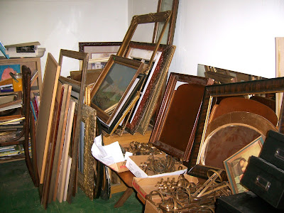 old frames and brass metal art