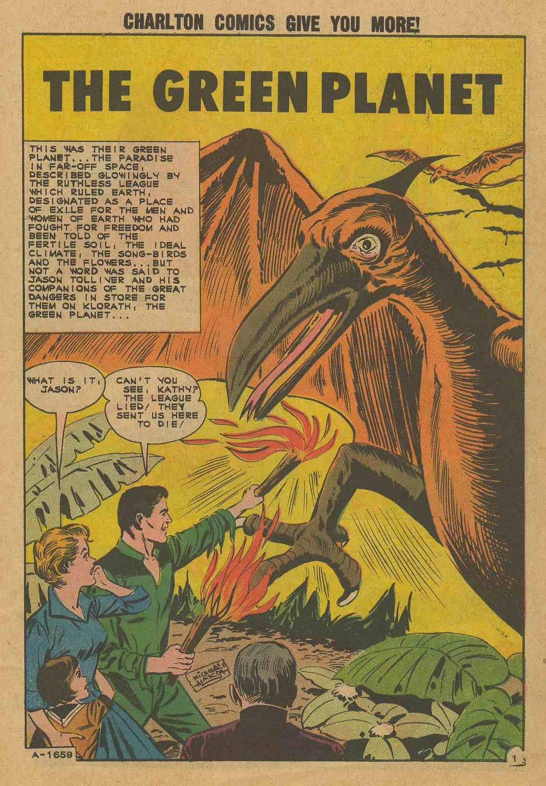 THE CHARLTON COMICS READING LIBRARY: THE GREEN PLANET (one-shot) ,1962