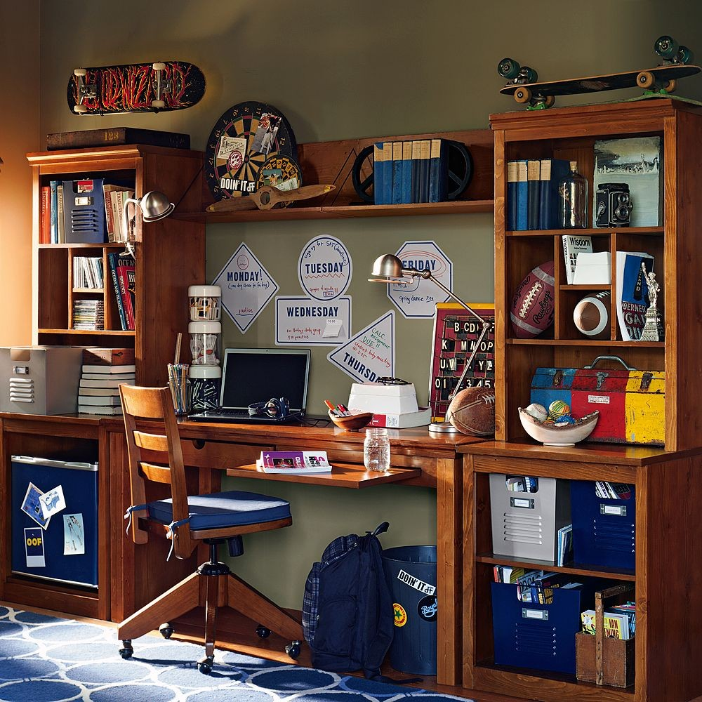 Stylish Ideas For Teenage Study Room Designs With Cool