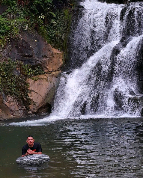 Suhow waterfall tourism spots in Aceh Sumatera Indonesia