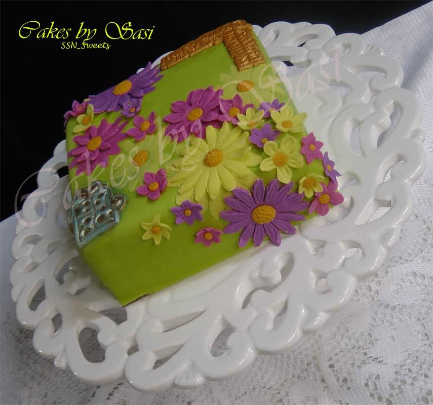 My Creations So Far...: Quick Spring Themed Birthday Cake