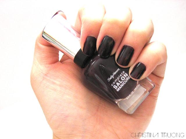 Sally Hansen Complete Salon Manicure Nail Polish 510 Pat on the Black