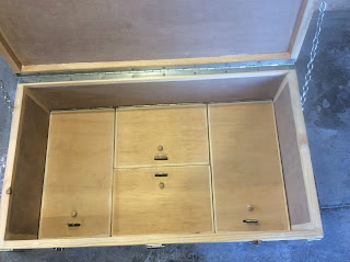 Open box with compartments showing