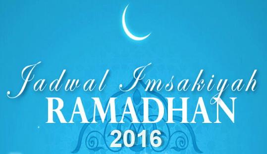 Jadwal Imsakiyah 2016 Seluruh Wilayah Indonesia