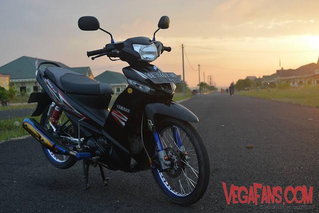Vega ZR Modif Standar Hitam Spark