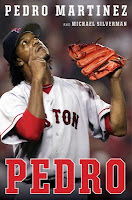 Pedro cover showing Pedro Martinez pointing at the sky