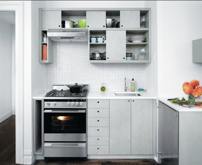 desain lemari dapur putih sederhana