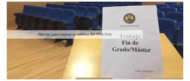 Talleres para mejorar la defensa del TFG/TFM.