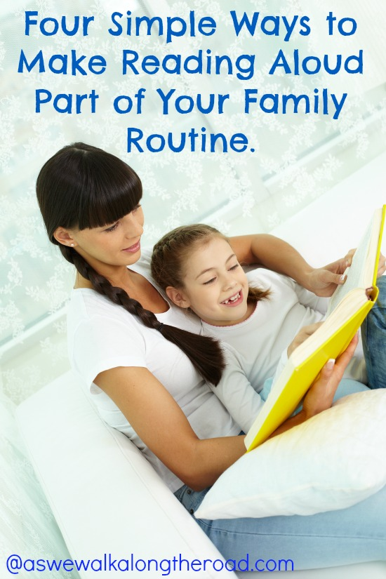 Making time to read aloud to kids