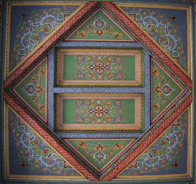 Ouzbékistan, Andijan, Musée littéraire Babour, rue Bazernaya, plafond, © L. Gigout, 2012